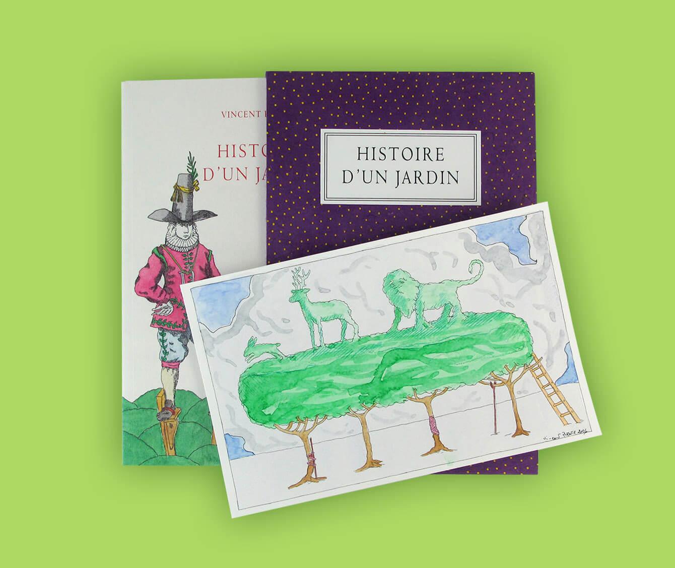 « Histoire d'un jardin » Textes et dessins de Vincent Puente. Tirage de tête. Dessin 1 Prix : 240 €